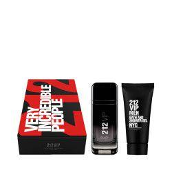 CAROLINA HERRERA 212 Men VIP Black Zestaw - Woda perfumowana (100ml) - Dla mężczyzn